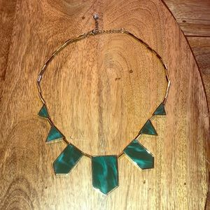 House of Harlow 1960 Green Five-Stations Necklace